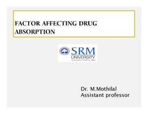 Dr. M.Mothilal Assistant professor