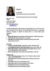 Dr. Nihal ÖZEL Toprak ve Ekoloji Araştırmaları Bölüm Başmühendisi