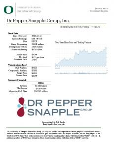 Dr Pepper Snapple! Group, Inc