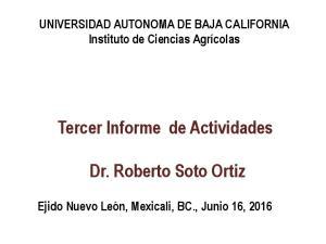 Dr. Roberto Soto Ortiz