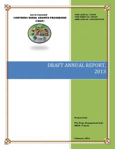 DRAFT ANNUAL REPORT, 2013
