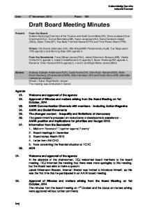 Draft Board Meeting Minutes