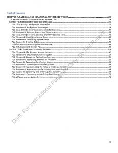 Draft: For Instructional Purposes Only. Do Not Reprint. Table of Contents