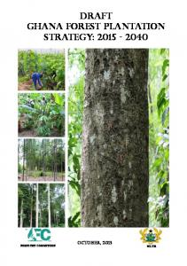 DRAFT GHANA FOREST PLANTATION STRATEGY: