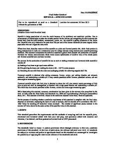 Draft Indian Standard SOYMILK SPECIFICATION