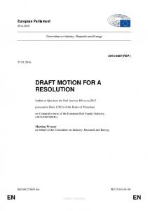 DRAFT MOTION FOR A RESOLUTION