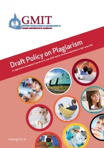 Draft Policy on Plagiarism