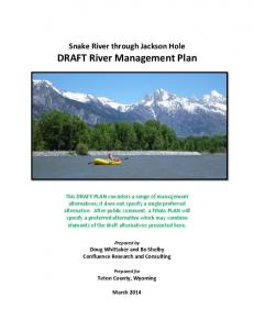 DRAFT River Management Plan