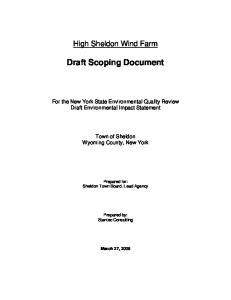 Draft Scoping Document