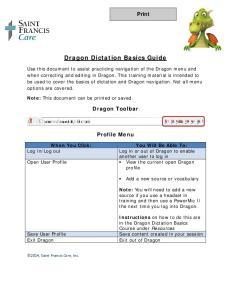 Dragon Dictation Basics Guide