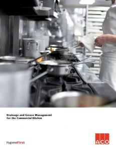 Drainage and Grease Management for the Commercial Kitchen