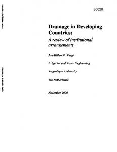 Drainage in Developing Countries:
