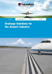 Drainage Solutions for the Airport Industry