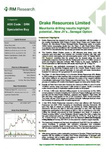 Drake Resources Limited