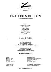 DRAUSSEN BLEIBEN ein Film von Alexander Riedel