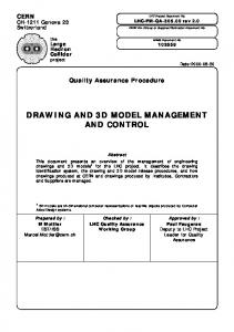 DRAWING AND 3D MODEL MANAGEMENT AND CONTROL