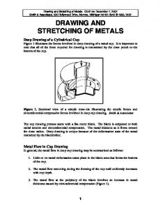 DRAWING AND STRETCHING OF METALS
