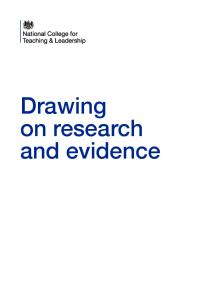 Drawing on research and evidence