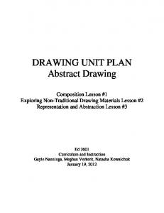 DRAWING UNIT PLAN Abstract Drawing