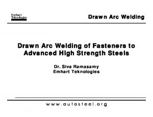 Drawn Arc Welding of Fasteners to Advanced High Strength Steels