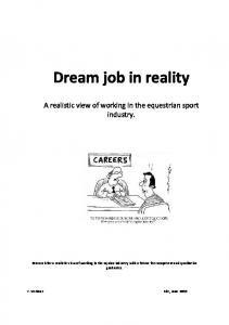 Dream job in reality