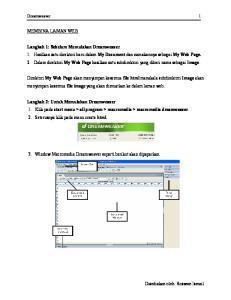 Dreamweaver 1 MEMBINA LAMAN WEB