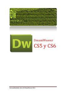 DreamWeaver. CS5 y CS6. Cursosindustriales. Curso de DreamWeaver CS6 1