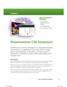Dreamweaver CS6 Jumpstart
