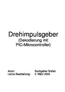 Drehimpulsgeber (Dekodierung mit PIC-Mikrocontroller)