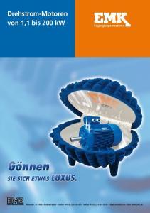 Drehstrom-Motoren von 1,1 bis 200 kw