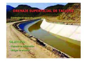 DRENAJE SUPERFICIAL DE TALUDES