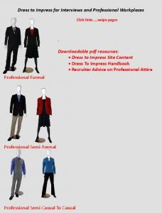Dress to Impress for Interviews and Professional Workplaces