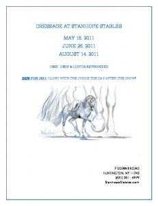 DRESSAGE AT STANHOPE STABLES