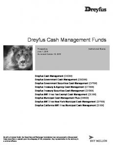 Dreyfus Cash Management Funds