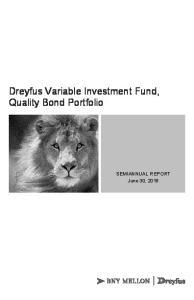 Dreyfus Variable Investment Fund, Quality Bond Portfolio