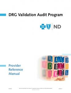 DRG Validation Audit Program