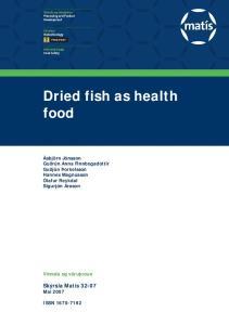 Dried fish as health food