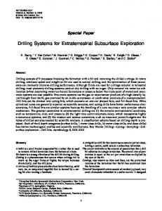 Drilling Systems for Extraterrestrial Subsurface Exploration