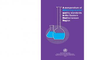 drinking-water quality standards in the Eastern Mediterranean Region
