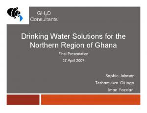 Drinking Water Solutions for the Northern Region of Ghana
