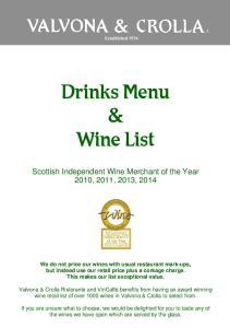 Drinks Menu & Wine List
