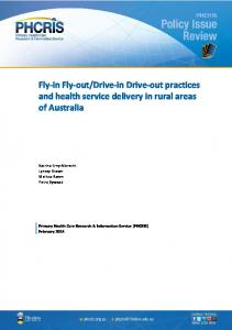 Drive-in Drive-out practices and health service delivery in rural areas of Australia