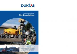 Driven piles of ductile cast iron