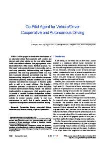 Driver Cooperative and Autonomous Driving