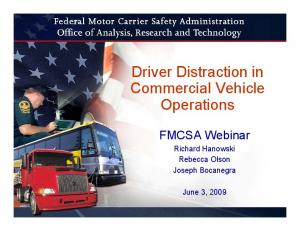 Driver Distraction in Commercial Vehicle Operations