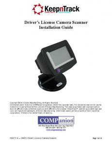 Driver s License Camera Scanner Installation Guide