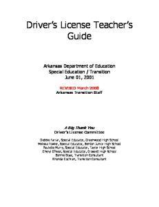 Driver s License Teacher s Guide