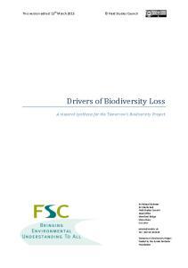Drivers of Biodiversity Loss