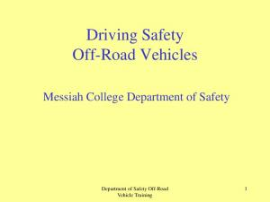 Driving Safety Off-Road Vehicles