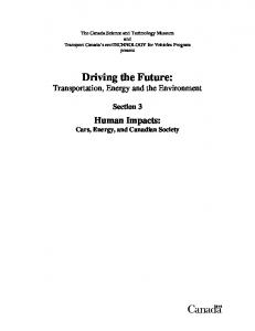Driving the Future: Transportation, Energy and the Environment
